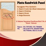PINTU SANDWICH PANEL PLYWOOD 081214877779, 082141141235, 082369779000, 0817760006